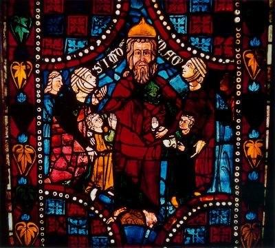 Vidriera de Simón el Mago, catedral de León