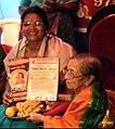 Vidushi Shashikala Dani honoured with 'Gayana Ganga' award by PadmaVibhushan Dr. Gangubai Hangal.jpg