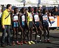 Vienna City Marathon 20090419 KEN team members posing before starting.jpg