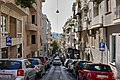 View Voukourestiou Street in the neighbourhood of Kolonaki and in the distance the Acropolis.jpg