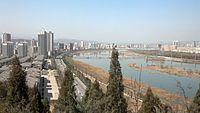 View from Zhonghua Shigu Park (中华石鼓园) on Baoji.jpg