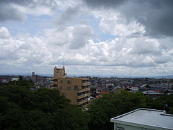 View of Takayama City from Oyama Park