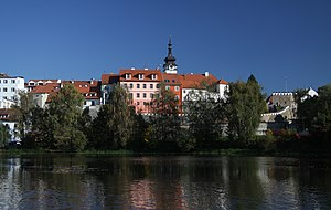 Písek - Image: View to Písek from Otava River (1)