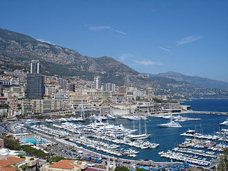 French Riviera - View of Port Hercule, Monaco