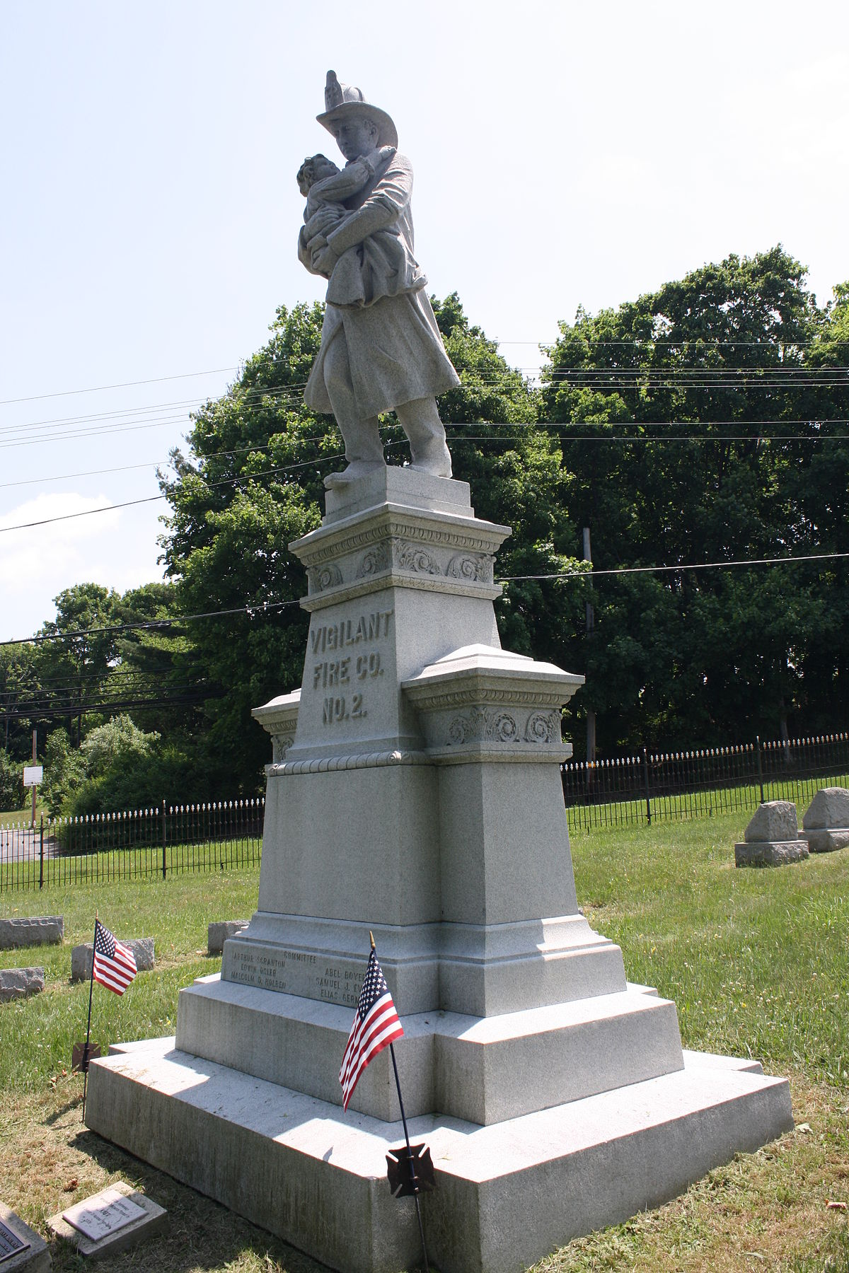 Vigilant Fire Company Firemen's Monument - Wikipedia