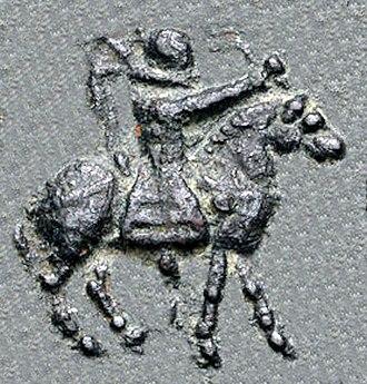 Vijayamitra - Image: Vijayamitra king on horse