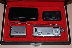 Vintage Minolta-16 MG Subminiature Viewfinder Film Camera, Made In Japan, Circa 1960s (15574127035).jpg