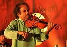 L. Subramaniam performing at a 2012 concert in Kollami