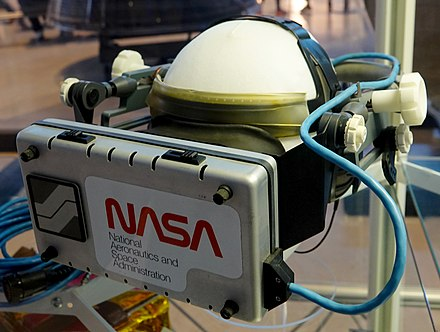 NASA Ames's 1985 VIEW headset Virtual Reality Headset Prototype.jpg