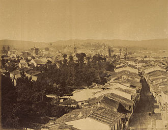 Braga - The skyline of Braga during the mid-19th century.