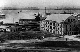 Teatro Tapia - View of the Tapia Theater and the San Juan Bay, in Old San Juan, Puerto Rico, in 1908.