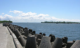 Vistula Lagoon and Spit from Baltiysk.jpg