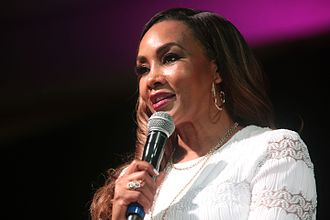Vivica A. Fox - Fox speaking at a women's conference in Phoenix in April 2017.