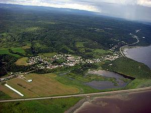 Saint-Fulgence, Quebec - Aerial view of Saint-Fulgence