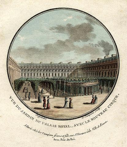 Fichier vue du jardin du palais royal avec le nouveau for Au jardin du port le palais
