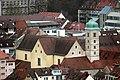 Würzburg, Blick von der Festung Marienberg zum Reuererkloster.jpg