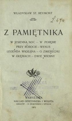 Z Pamiętnika Zbiórcałość Wikiźródła Wolna Biblioteka