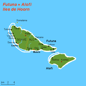 Futuna (Wallis and Futuna) -  Hoorn Islands also called Futuna Islands