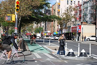 Bikeway safety - Dedicated cycling facility in New York City