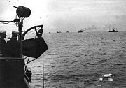 WWI convoy approaching Brest