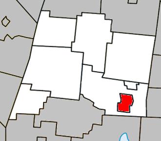 Waterloo, Quebec - Image: Waterloo Quebec location diagram