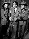 Two comedians dressed as Mounties apprehend the host of a TV show