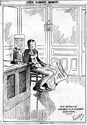 H. T. Webster - H. T. Webster drew this 1922 cartoon shortly after the William Desmond Taylor murder.