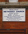 Weeley Street Methodist Church, Sign - geograph.org.uk - 1578994.jpg