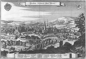 Weimar - Weimar in 1650