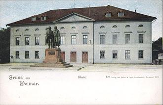 Goethe–Schiller Monument - Image: Weimar Hoftheater 1899