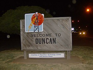 Duncan, Oklahoma - Image: Welcome 2duncan