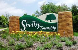 Shelby Charter Township welcome sign