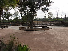 Werribee Open Range Zoo Hippo Exhibit 01.JPG