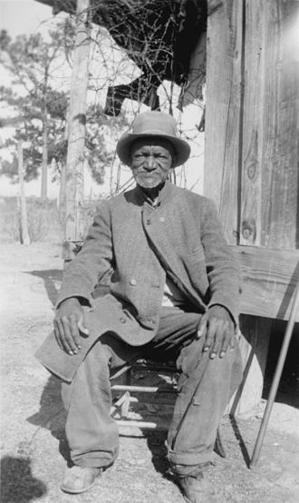 Historiography of the United States - Wes Brady, ex-slave, Marshall, Texas, 1937. This photograph was taken as part of the Federal Writers' Project Slave Narrative Collection.