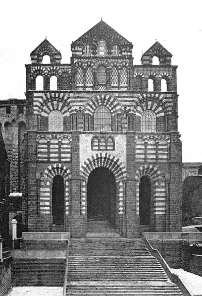 West Front Of Cathedral, Le Puy - A book of the Cevennes.jpg