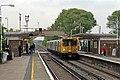 West Kirby-bound train, Leasowe Railway Station (geograph 2992980).jpg