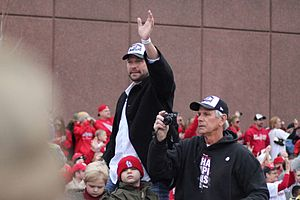 Jake Westbrook - Jake during the 2011 World Series parade.