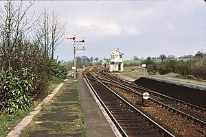 Westerfield railway station - Westerfield Junction signal box in 1979
