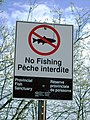 Whitefish Channel provincial fish sanctuary sign.JPG
