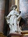 Wien Peterskirche Figur Carolus Borromaeus.jpg