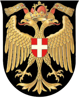 History of Vienna - Old coat of arms of Vienna (1465–1925) with the imperial double-headed eagle