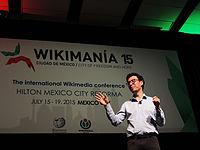 Wikimanía 2015 - Day 4 - Luis von Ahn conference - LMM (14).jpg