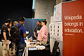 Wikimania 2014 WMF Grantmaking Booth 02.JPG