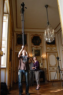 Wikimedia takes the Château de Versailles - Cabinet des dépêches - Behind the scenes 1 - March 25, 2011.JPG