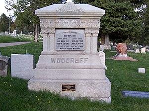 Wilford Woodruff - Grave marker of Wilford Woodruff