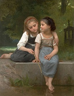 William Adolphe Bouguereau, Fishing For Frogs, 1882. Oil on canvas