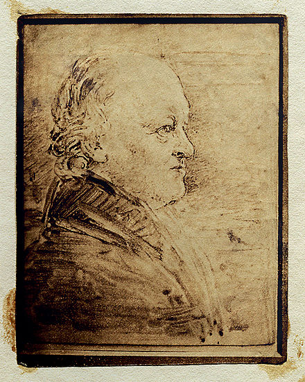 William Blake's portrait in profile, by John Linnell. This larger version was painted to be engraved as the frontispiece of Alexander Gilchrist's Life of Blake (1863). William Blake3.jpg