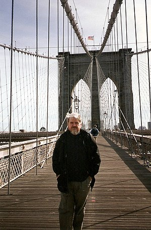 William Irwin Thompson - William Irwin Thompson on Brooklyn Bridge, 1996