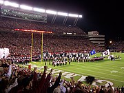 Pregame ceremonies at Williams-Brice Stadium.