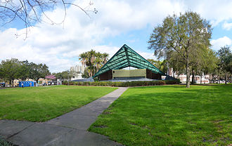 Williams Park with bandshell, one of the many public green spaces in the area Williams Park St. Petersburg Florida Amphitheater.jpg